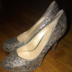 Sequined Nine West Heels